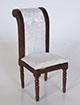 法式白色坐墊單人椅