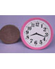 鐵盤圓鐘-粉紅
