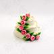 三層玫瑰蛋糕