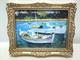 040+010金色畫框+莫內帆船畫像